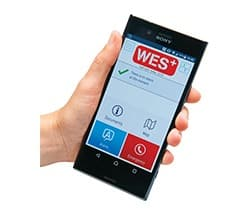 wes react wireless fire and emergency alarm phone app