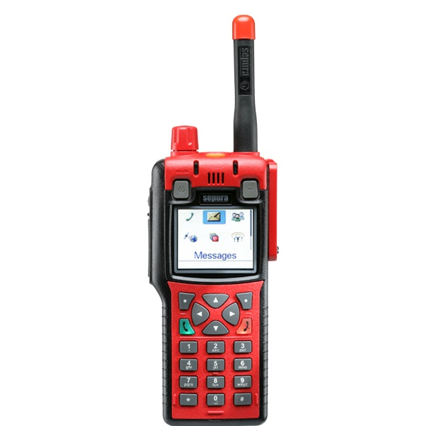 Sepura STP8X040 Portable 1W 407-473MHz  Inc GPS (radio Only), No Encryption, Man-Down Capable, Colour Display
