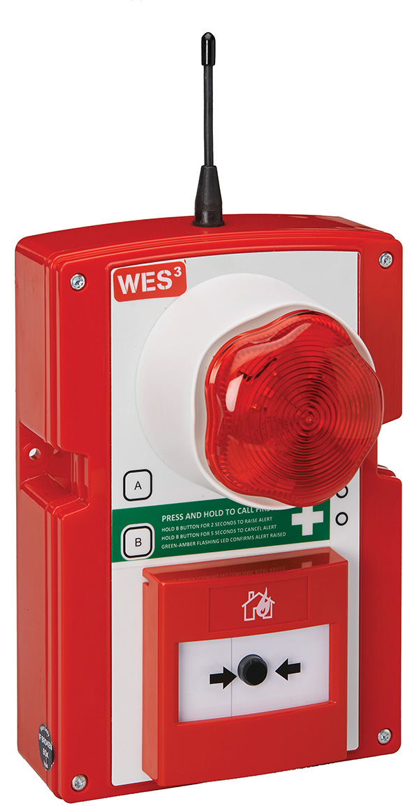 WES3 W3-ECP-CSS-R-9R Emergency Call Point, Siren & Strobe – ANZ
