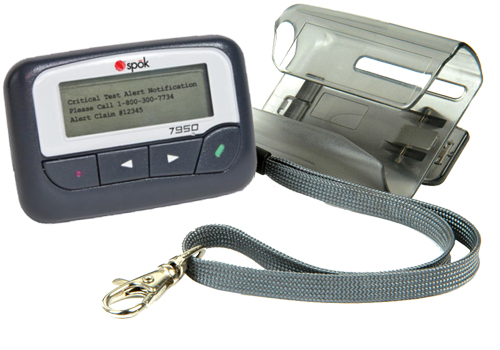 Commtech Pager Alphanumeric 7950 143-151 MHz Holster And Strap Included