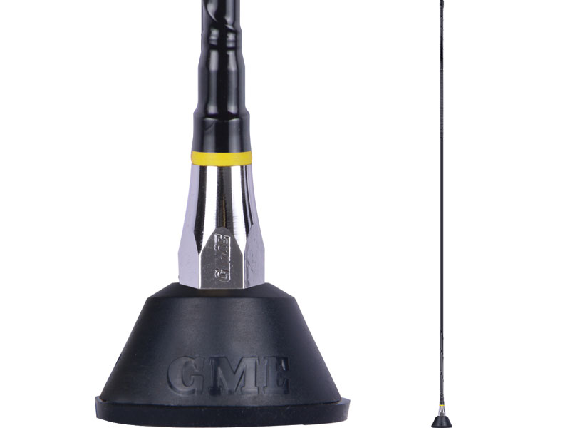 GME Antenna 1m AM/FM Fibreglass Aerial With Base Lead & Plug