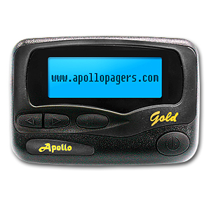 Apollo Pager – Gold  VHF  2/4 Line Alpha