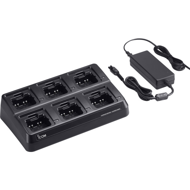 Icom 6 Way Rapid Charger includes 6xAD130 Charger Adaptor & BC157S AC Adaptor, suit IC-41PRO