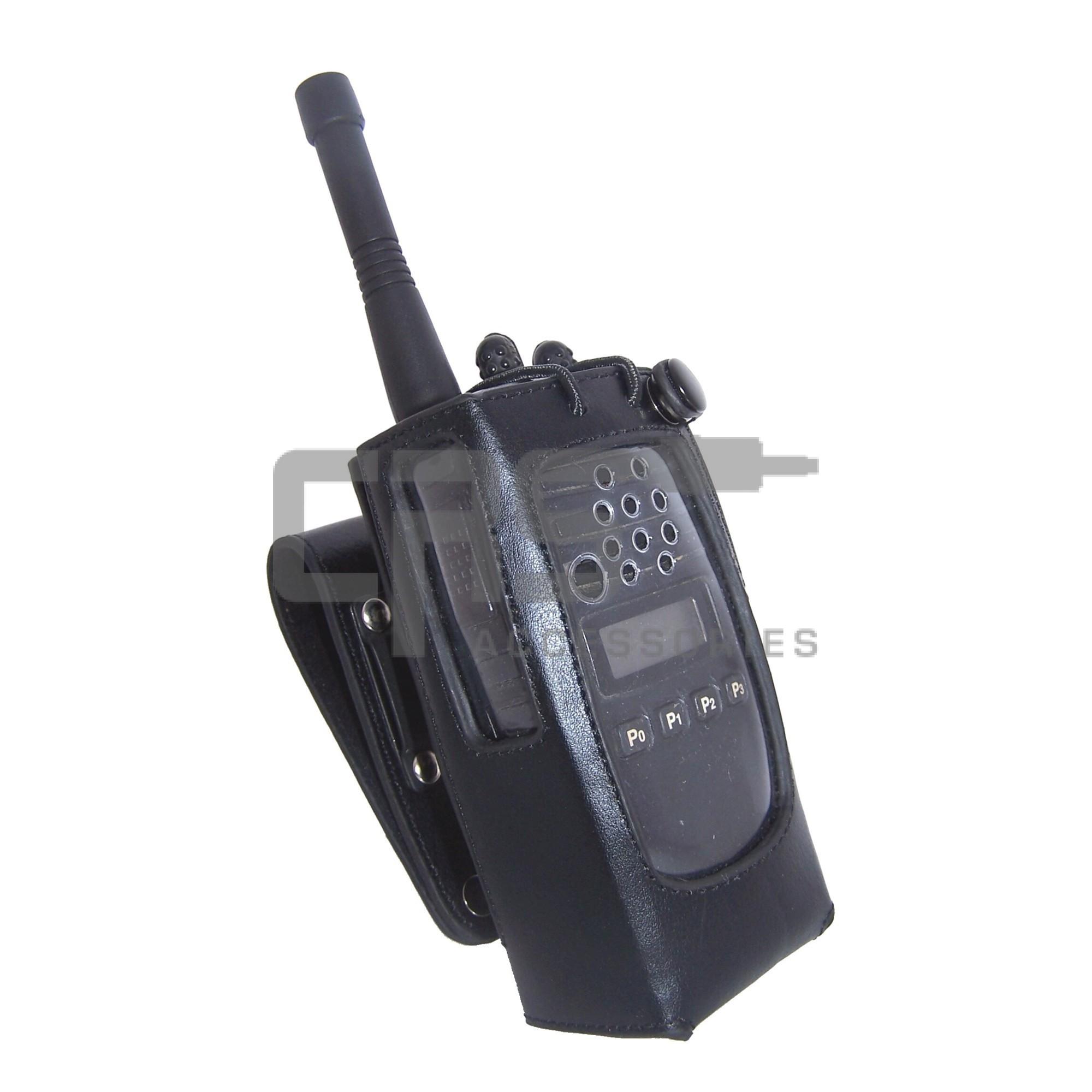 CRS Leather Case HD Swivel Loop & Belt Clip Suit Icom IC-41S/41W, Kenwood TK-3310 / 3317, 3207,  Motorola CP476 / DP2400