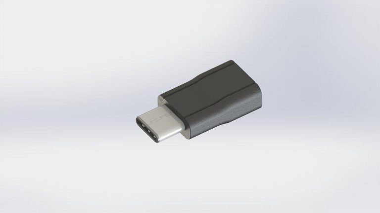 Bury ELKA USB-C Male to Micro USB-B Female Adapter