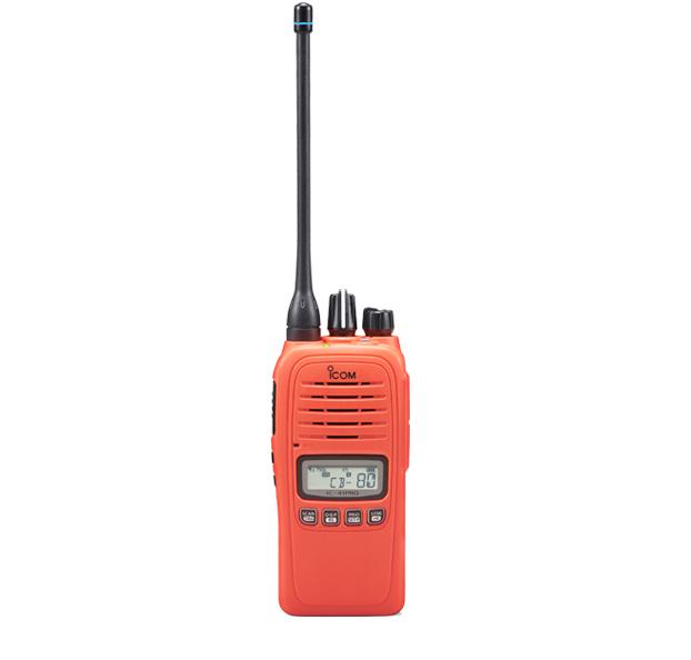 Icom IC-41PRO Orange IP67 Waterproof Portable UHF 5w 80Ch+, Batt, Chgr, Antenna & Belt Clip