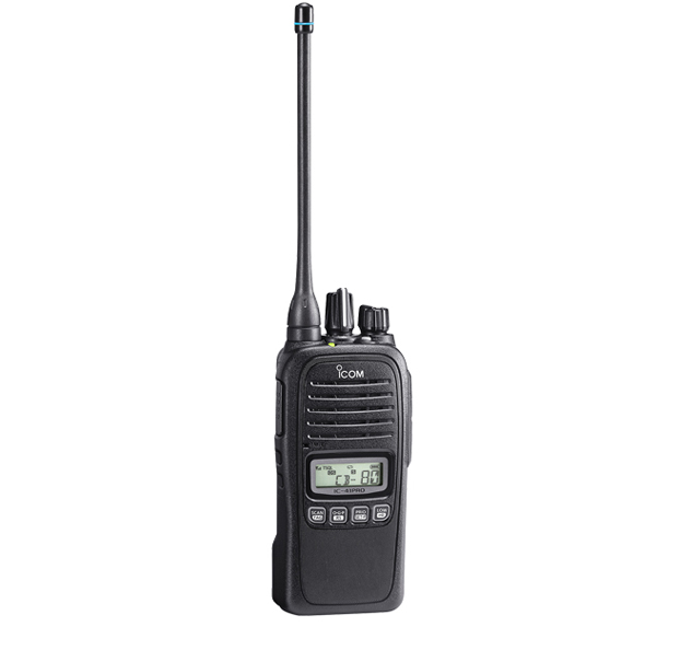 Icom IC-41PRO IP67 Waterproof Portable UHF 5w 80Ch+, Batt, Chgr, Antenna & Belt Clip