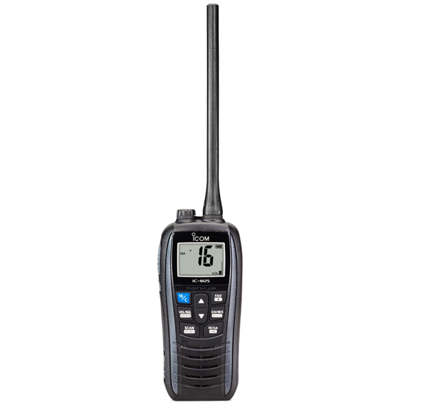 Icom IC-M25Euro 5W VHF Waterproof Floating Radio (Metallic Grey)