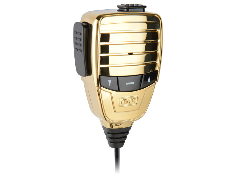 GME Microphone MC553G Premium Metal Chassis, Polished Plated Casing, Colour, Gold with Magnetic Mount suit TX3510, TX3520 & TX4500