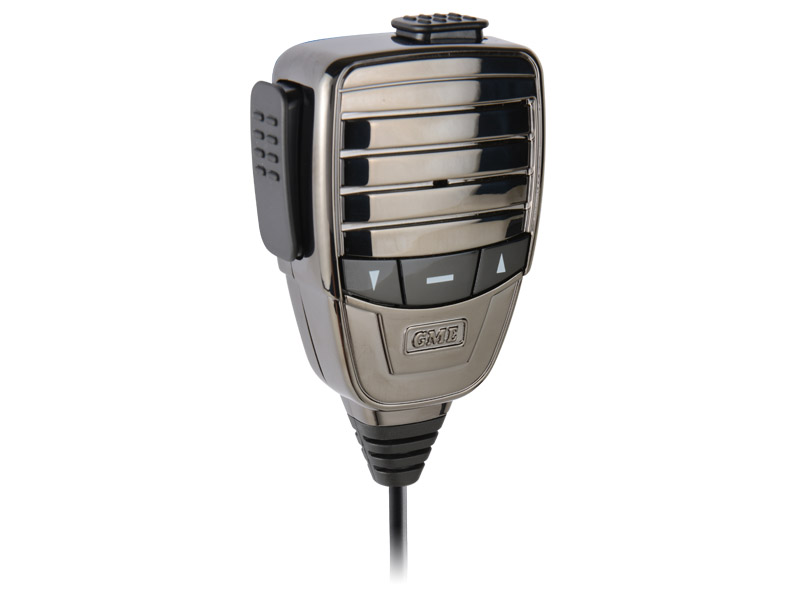 GME Microphone MC553P Premium Metal Chassis, Polished Plated Casing, Colour, Platinum with Magnetic Mount suit TX3510, TX3520 & TX4500