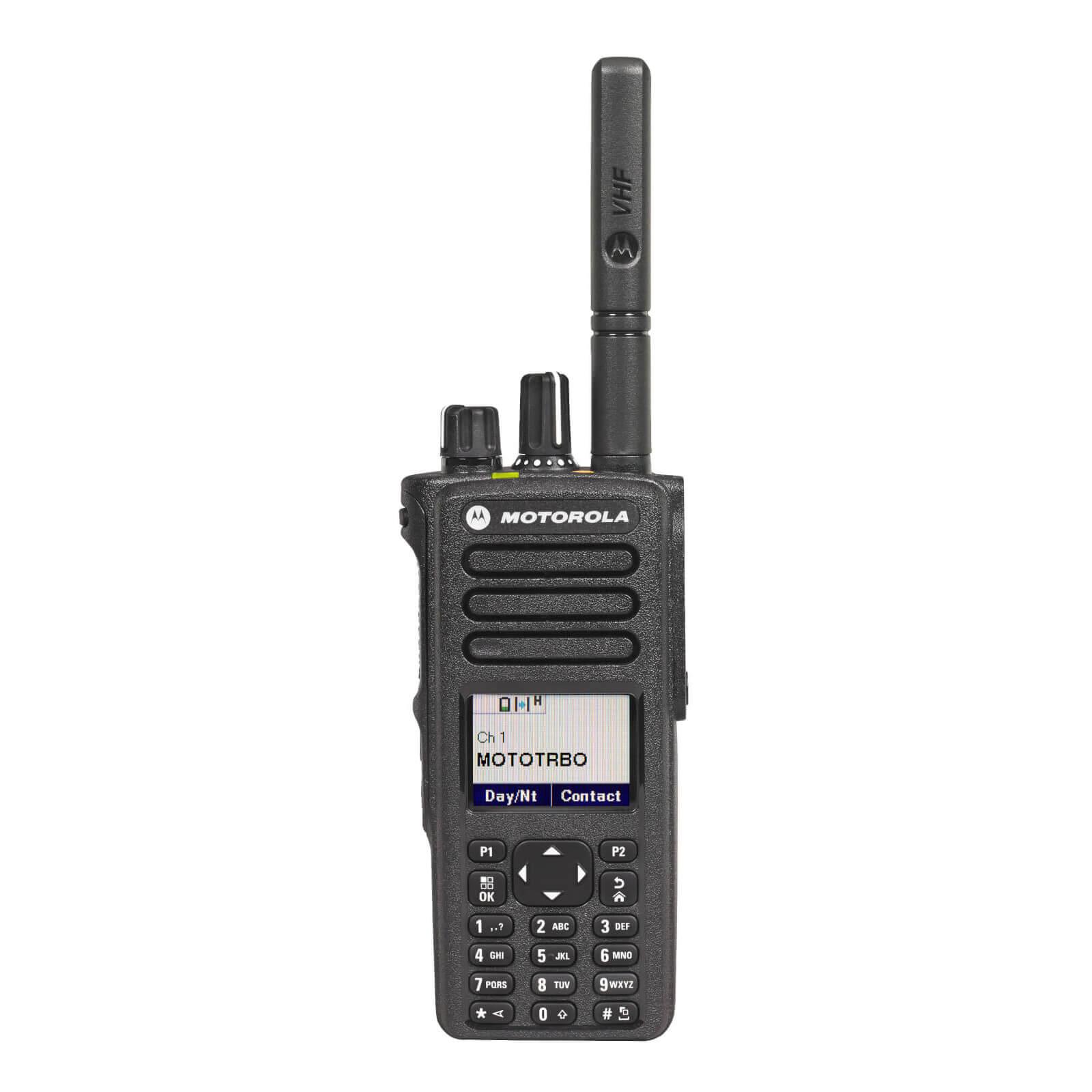 Motorola DP4800e Portable VHF 136-174MHz Keypad/display Inc Antenna, Standard Battery & Belt Clip