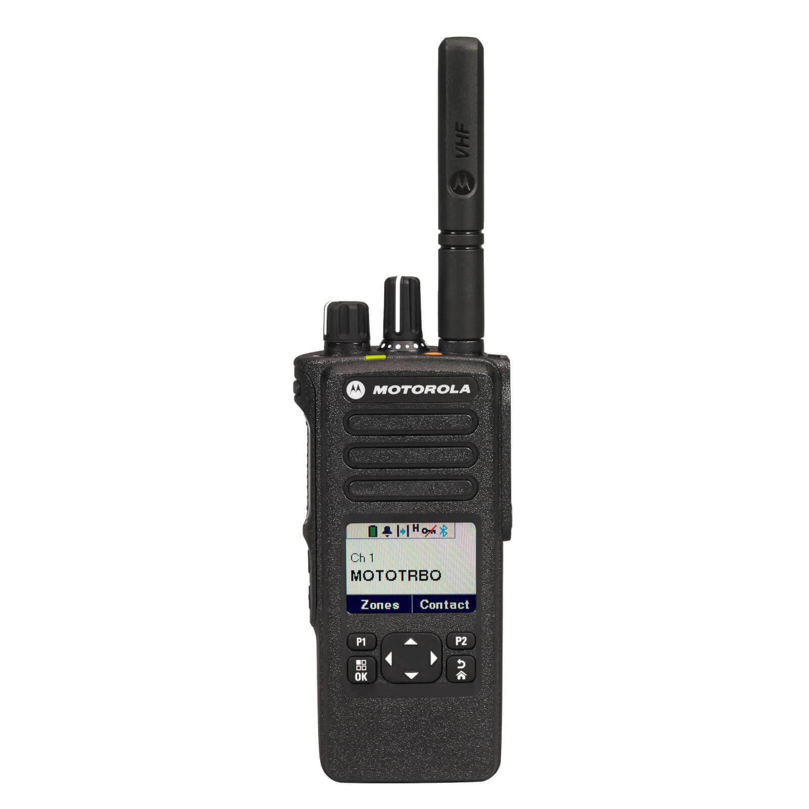 Motorola DP4601e Portable VHF 136-174MHz Ltd Keypad GPS/BT Pack Inc Antenna, Standard Battery &  Belt Clip