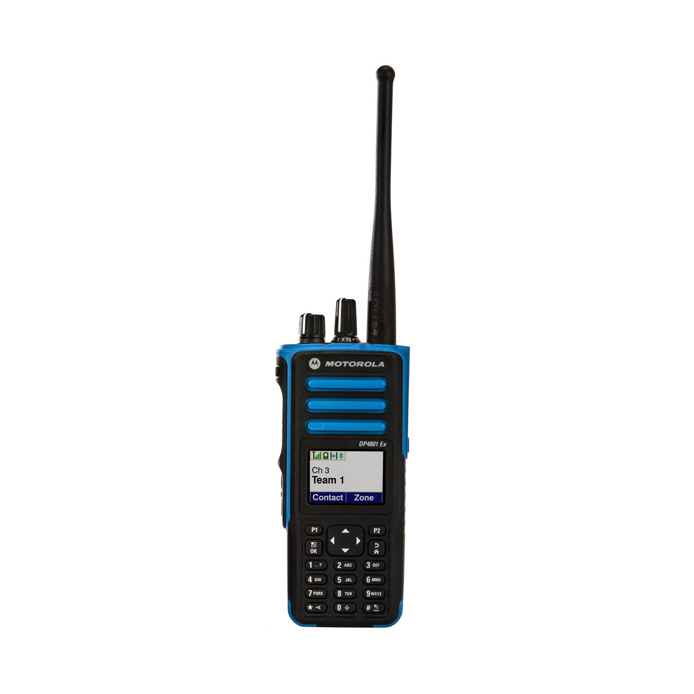 Motorola DP4801 EX ATEX Portable UHF 403-470MHz 1W GPS GOB PBE502HEGEX Full Keypad/display, inc PMAE4084A (QA03265AA) Antenna, NNTN8359A Li-Ion Battery, B/clip & GPS/b