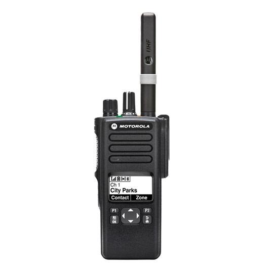 Motorola DP4601e Portable UHF 403-527MHz Limited Keypad Inc GPS, Bluetooth, Antenna, 2450 mAh IP68 LiIon Battery & Belt Clip