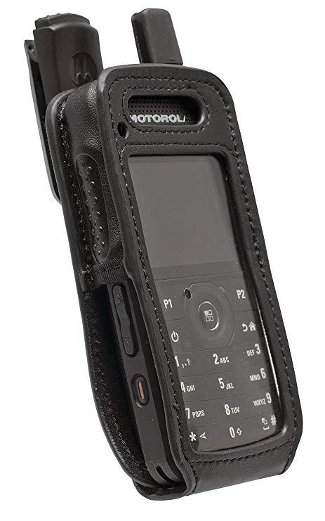 Motorola Carry Case, Soft Leather with 1.5″ Quick Release Swivel Belt Clip suit SL4010