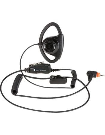 Motorola Adjustable D-Style Earpiece with In-Line PTT/Mic