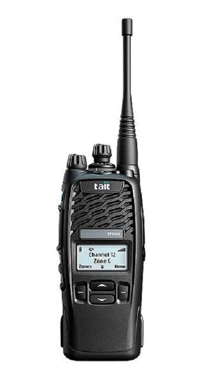 Tait TP9355 Portable DMR 4 Key 1500CH VHF/UHF inc antenna, battery & belt clip