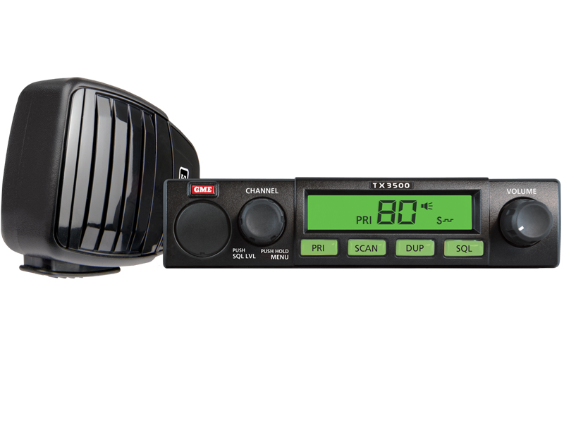 GME TX3500S Mobile UHF 5 Watt 80 Channel Under Dash with Scan Suite