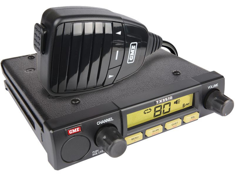 GME TX3510S Mobile UHF 5 Watt 80 Channel Fully Featured Under Dash w/ScanSuite™
