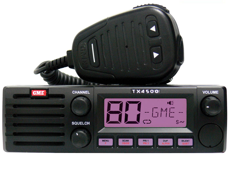GME TX4500S DSP DIN size UHF radio with ScanSuite & MC553B Microphone