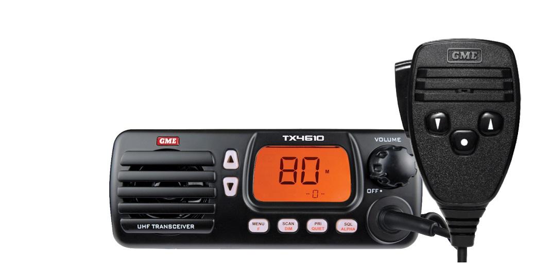 GME TX4610 Mobile UHF 5 Watt 80Ch Waterproof