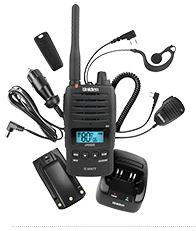 Uniden UH850S Portable 80Ch CB UHF 5w Waterproof, Speaker Mic/Desk Charger/Li-Ion 2300mAh Batt/Vox/12V Charger