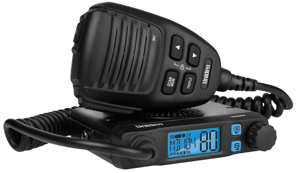 Uniden UH9000 80Ch Mini Compact Size UHF CB Mobile with Smart Mic Technology . 12/24V