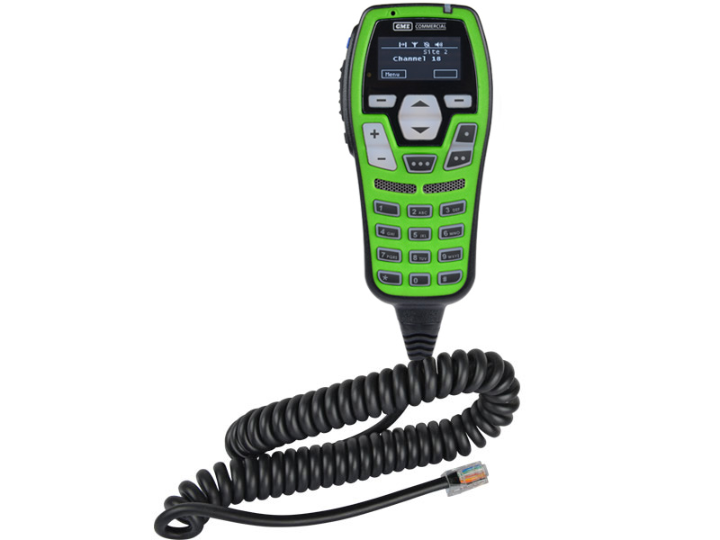 GME  Microphone UIC600GC Control Head, OLED Display, Green, with Integrated 2W Speaker suit CM60 Series Radios