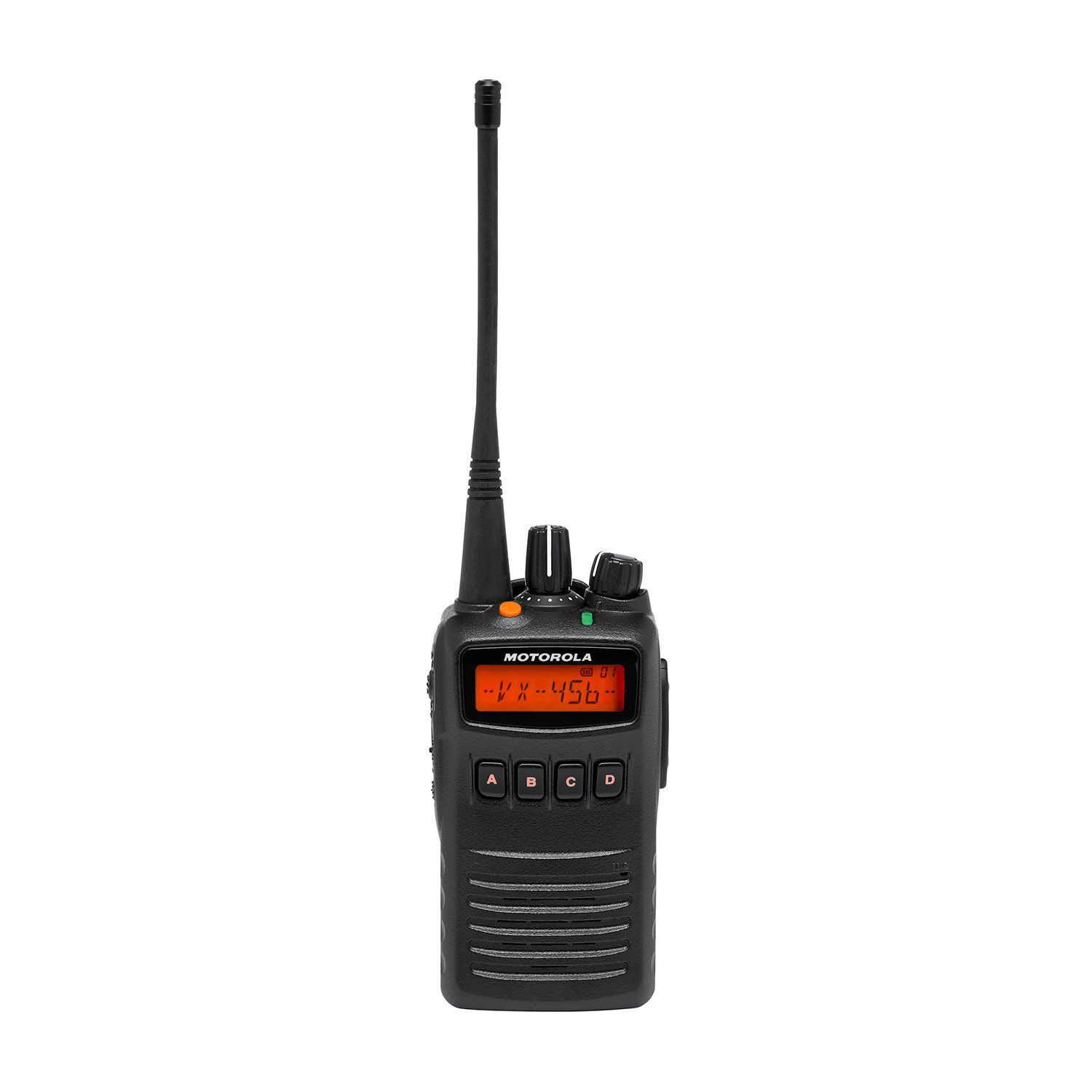 Motorola VX-456 Portable UHF 450-520MHz 5W 80 CB + 512 Ch includes Antenna, Hi-Cap Battery, Belt Clip & Charger