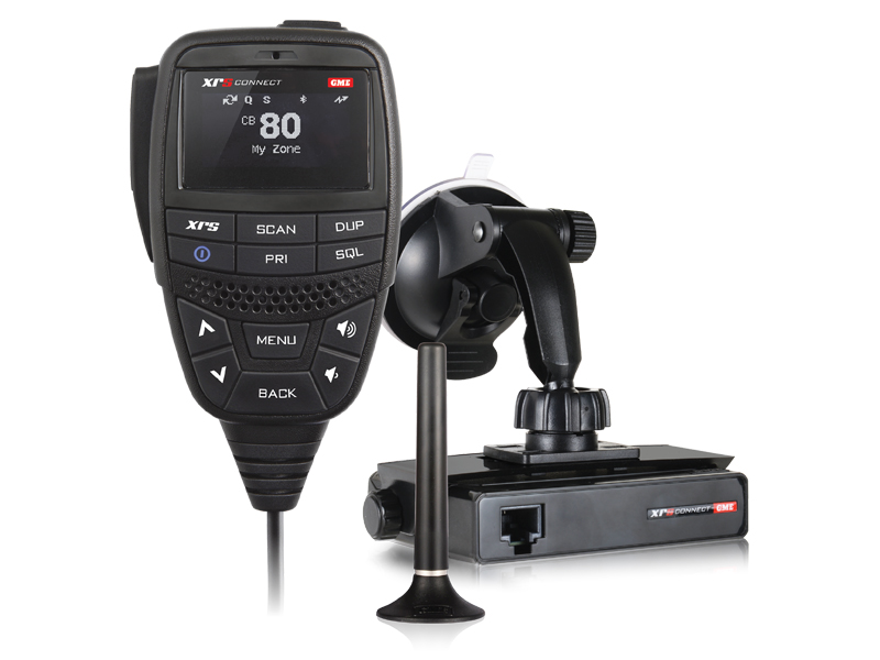 GME XRS-330CP XRS Connect™ Portable Pack UHF CB inc. Suction Cup Mount, AE4026 Magnetic Antenna, 12VDC Power Lead & Premium Carry Case.